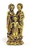 StonKraft Statue en Laiton avec Croix de Jésus-Christ au Fini Antique (Sainte Famille)