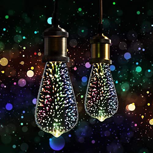 2 x XQ-lite LED Leuchtmittel Edison ST64 3,5W E27 3D Feuerwerk Effekt Dekoration