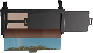 Sliding Car Visor Extender, See Through Pull-Down Tinted Screen and Helps Reduce Glare