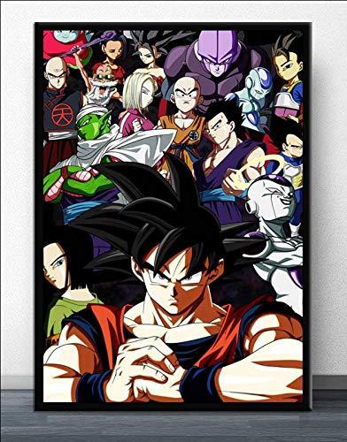 AJleil Puzzle 1000 Piezas Dragon Ball Goku Anime japonés Manga Ultra Instinct Art Painting Puzzle 1000 Piezas Gran Ocio vacacional, Juegos interactivos familiares50x75cm(20x30inch)