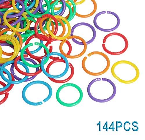 Binder Ringe 28mm Kunststoff Lose Blatt Buch Ringe Schlüsselringe für Scrapbook Album Handwerk 144 Stück