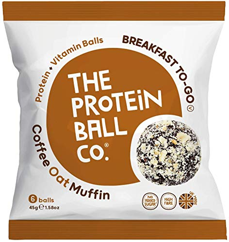 The Protein Ball Co Coffee Oat Muffin - Breakfast on The go 45g (Pack of 10)