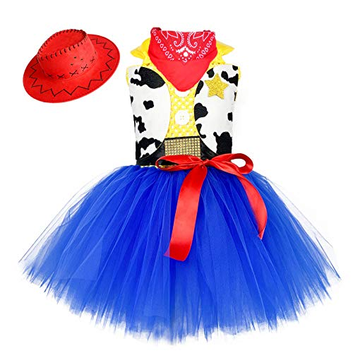 O'COCOLOUR Cowgirl Cowboy Costume for Girls Kids Role Play Dress Costumes Halloween Birthday Party,Size X-Large (7-8 years)