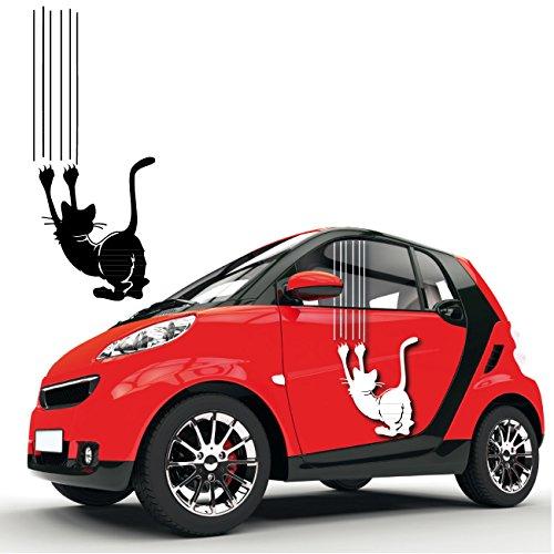 Kratze Katze Autotattoo tolle Tiersticker Katzen Motiv mit Kratzspur Aufkleber Folienplot |KB405