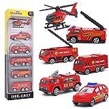 Dreamon Spielzeugautos Feuerwehrauto Fahrzeuge Feuerwehrmann Spielzeug Set Mini Cars für Kinder ab...