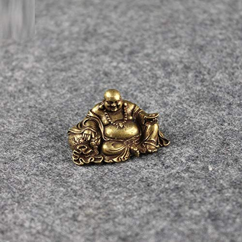 LLSJF Wall Sculptures Antique Copper Buddha Miniature Figurines Home Decorations Buddhas Desktop Ornaments