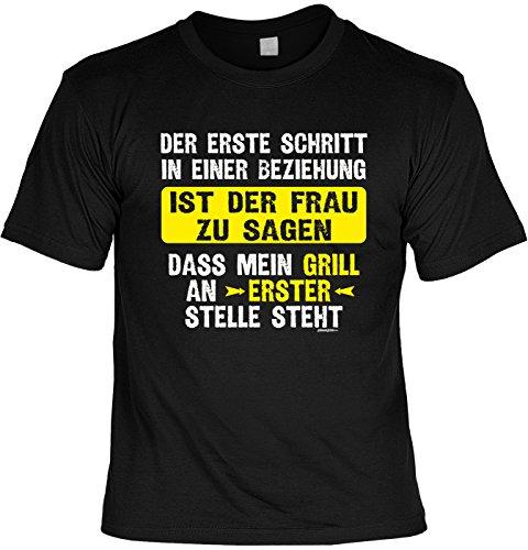 Grill T-shirt cadeau-idee grillen T-shirt .DASS Mijn grill op de eerste plaats staat barbecue party cadeau voor het barbecueseizoen