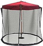 KDOAE Mosquito de Sombrilla de jardín Jardín Parasol Net Parasol Mosq-Uito Net Camping Patio Patio Paraguas Net Cover para Acampar en el Jardín al Aire Libre (Color : Black, Tamaño : One Size)