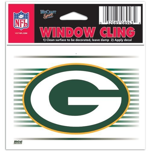 Green Bay Packers NFL 3x3 Static Window Cling Decal