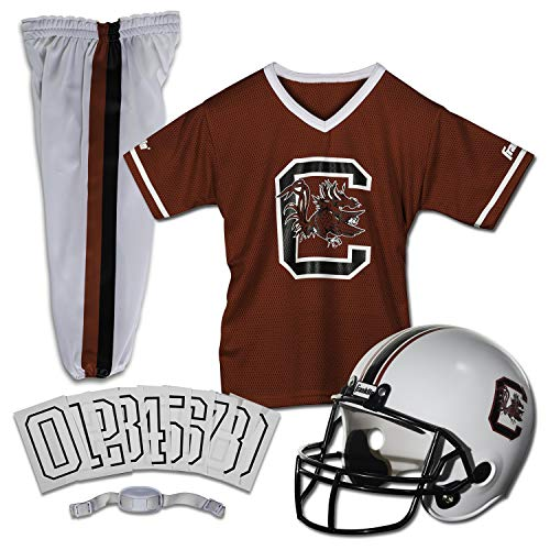 Franklin Sports NCAA South Carolina Gamecocks Kids College Football Uniform Set - Youth Uniform Set - Includes Jersey, Helmet, Pants - Youth Small