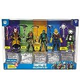 Fortnite Action Figures 15 Piece Collectors Set - 5 Character Figures, 5 Harvest Tools, 5 Building Materials - Spooky Team Leade