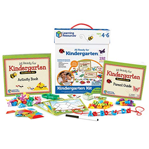 Learning Resources All Ready for Kindergarten Readiness Kit, Reading, Vocab, Handwriting Helper, Homeschool, Ages 4+