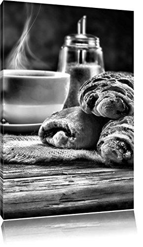 chocolade croissantFoto Canvas | Maat: 120x80 cm | Wanddecoraties | Kunstdruk | Volledig gemonteerd