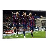 Lionel Messi MSN Neymar Suarez Sport-Poster für Jungs,