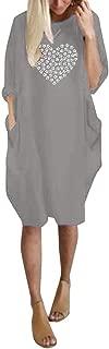 Women Casual Long Sweatshirt O-Neck Long Sleeve Short Solid Color Print Blouse Loose Comfortable Leisure Shirt
