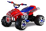 Kid Trax Marvel Spiderman Toddler ATV Ride On Toy, 12 Volt Battery, 3-7 Years, Max Rider Weight 88 lbs, LED Head Lights, Spider-Man Blue