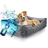 HunDu Hundebett für Mittelgroße Hunde [aus PET-Flaschen Recycelt] Waschbar Hundekörbchen 90x70 x20cm auch für kleine Hunde Dog Bed Hundekorb Abwaschbar Haustierbett auch für im Freien