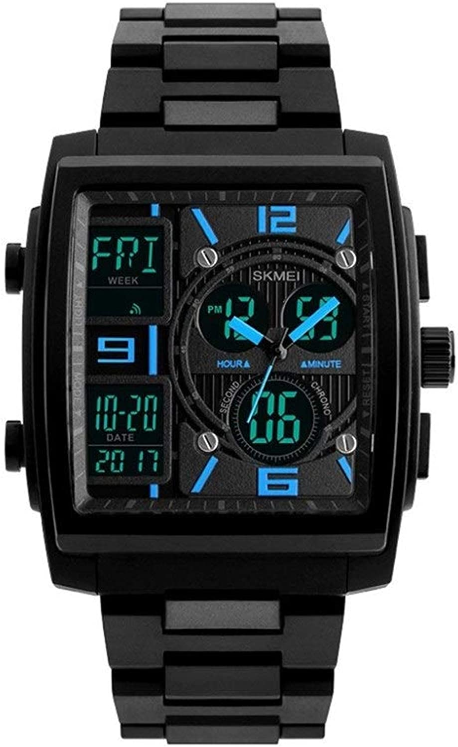 Haoyushangmao Fashion Men's Electronic Watch, Multi-Function Outdoor Sports Watch, Student Sports Electronic Watch, Best Gift for a Comfortable Touch