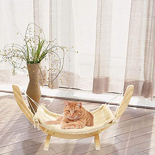 CNMYDZ Swing Hammock Bed,Pet Rocking Chair,Cat Hanging Bed Solid Wood Shaker For Cat Kitten Puppy