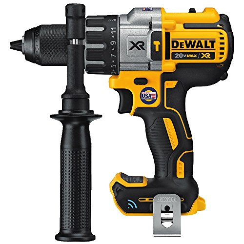 DEWALT 20V MAX XR Hammer Drill Kit, Tool Connect Bluetooth, Tool Only (DCD997B)