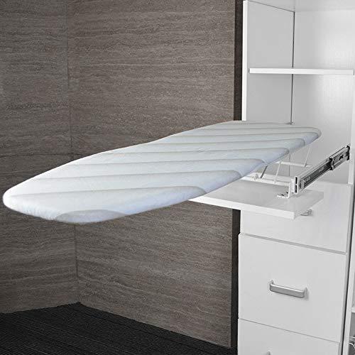 WARM WORM Tabla de Planchar, para Plegar el Espacio de Ahorro de la Tabla de Planchar Oculta con amortiguación, Tabla de Planchar Plegable para cajón extraíble