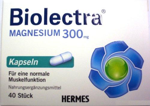 Biolectra Magnesium Vitamine 300 mg, 1er Pack (1 x 40 Stück)