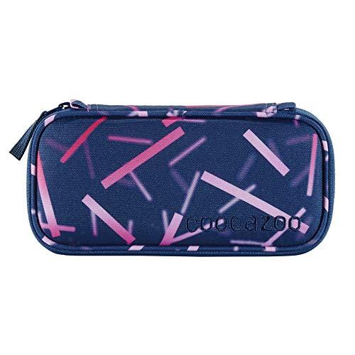 coocazoo Estuche PencilDenzel 'Cyber Pink' rosa, estuche de lápiz, bolsillo escuadra, compartimento para horarios, compartimento para bolígrafos extraíble, compartimento adicional con cremallera.