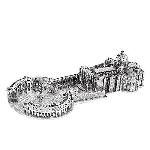 MoTu 3D Metal Puzzle St Peter's Basilica Assemble Model Kits B32202 DIY 3D Laser Cut Jigsaw Toy