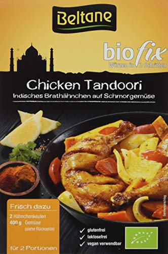 Beltane biofix Chicken Tandoori - 2 Portionen, 2er Pack (2 x 21,5 g Packung) - Bio