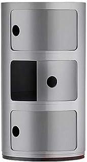 Kartell 4967SI Componibili 3 portes Meuble de rangement Argent
