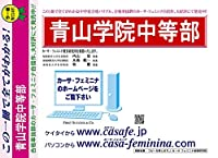 青山学院中等部【東京都】 合格福袋セット 2割引(最新の過去問題集1冊[HPにある過去問のうちの最新]+開運模試A1~10)