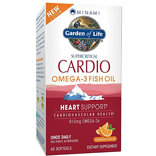 Garden of Life Minami Nutrition Cardio-3 Supercritical Omega 3 Fish Oil, 900 mg