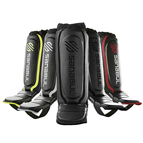 Sanabul Essential Shin Guards Black, Small/Medium