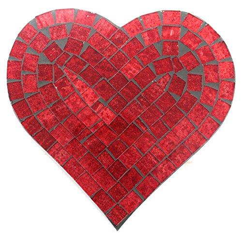 Mosaik - Herz - Rot