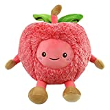Athoinsu Stuffed Animals Cherry Shaped Fruits Cuddly Soft Plush Toys Easter Valentines Birthday Gifts for Toddlers Kidsd, 11.5''