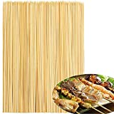 OWill 28cm, 200 Pieces Bamboo Skewers Natural Wooden Skewers Sticks for BBQ, Shish Kabobs, Party Essentials.