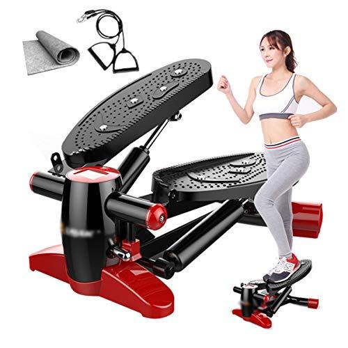 LZ Multifunctionele mini-loopband, fitnessstepper, met trekkoord en voetmassage schokdemper, geluidsarm gewichtsverlies, pedaal 40 x 43 x 23 cm