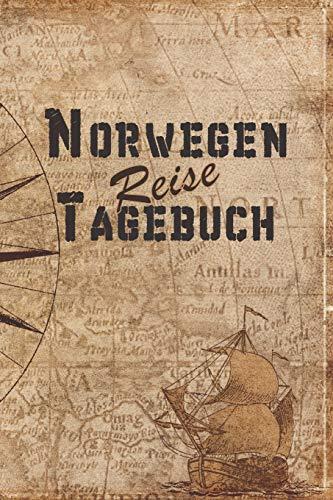 Norwegen Reise Tagebuch: 6x9 Reise Journal I Notizbuch mit Checklisten zum Ausfüllen I Perfektes Geschenk für den Trip nach Norwegen für jeden Reisenden