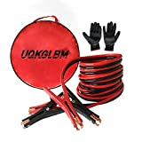 UQKGLBM Jumper Cable Heavy Duty 4 Gauge X 20 Ft Emergency Power Starter Booster Cable For Car
