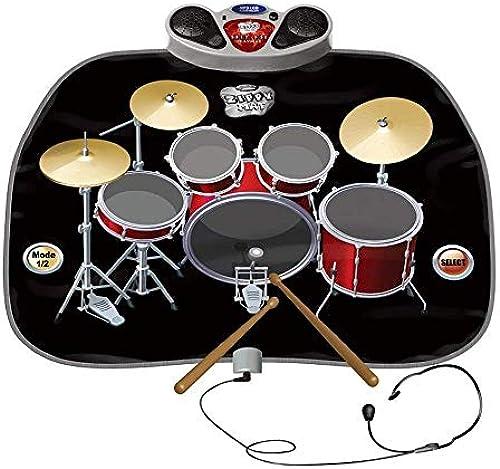LIUJIE Electric Musical Playmat Spielzeug Instrument Drum Kit enth  Kopfürer mit Mic & Drum Stücks MP3 CD-Verst er für Kinder Early Education Puzzle Drum