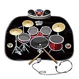 ZHJBD Worth Having - El Juego de Tambor de Instrumentos de Juguete de Juguete de Juego de Juguete eléctrico para Juguete Incluye Auriculares con micrófono y batería MP3 / CD Amplificador para niños