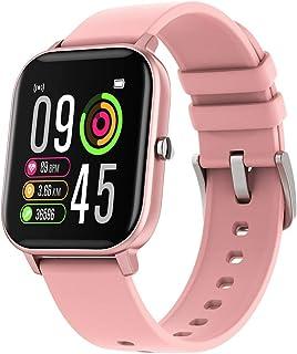 Okle Smartwatch, Reloj Inteligente De Hombre y Mujer con Tensiómetro, Podómetro, Pulsómetro, Monitor De Sueño, Termómetro Corporal - Reloj Fitness - Impermeable IP67