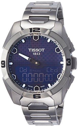 Tissot Mens T091.420.44.041.00 T-touch Expert Solar Blue Dial Titanium Watch