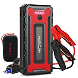 NUSICAN Upgraded 4000A Car Jump Starter with USB QC 3.0 (Up to 10L Gas or 10L Diesel Engine), 12V Auto Portable Battery Starter, Battery Booster Jump Box with with Smart Safety Cable, Type-c