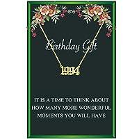 ゴールド誕生年ネックレス レディース 誕生日ギフト オールドイングリッシュ誕生年ナンバーペンダントネックレス 思い出に残る記念ジュエリー ガールズ