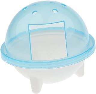 Dovewill プラスチック製 ハムスター スナネズミ ペット バスルーム ケージ 風呂 砂 シャベル おもちゃ トイレ 全3色 - シルバー