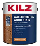 KILZ L832111 Exterior Waterproofing Wood Stain, Semi-Transparent, Cedar, 1-Gallon, 1 Gallon, 4 l
