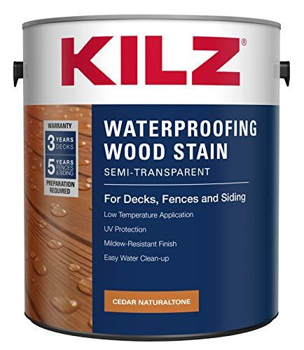 KILZ L832111 Exterior Waterproofing Wood Stain