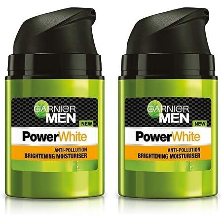 Garnier Men Men Power White Anti-Pollution Brightening Moisturiser, 50g (Pack Of 2), 100 g (Pack of 2)