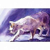 大人のための5Dダイヤモンドペインティングキット猫ペット番号キットダイヤモンドアートクラフトの家の装飾でペイント、20x26インチ(M9-558)
